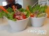 沙拉 - 擺得很可愛~青菜很新鮮好吃!