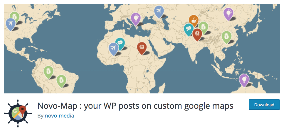 [WP 外掛] Novo-map : your WP posts on custom google maps
